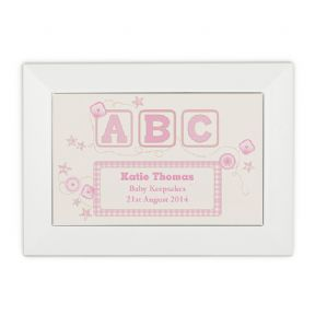 Keepsake Box for Baby Girl, PERSONALISED ref ABCGB